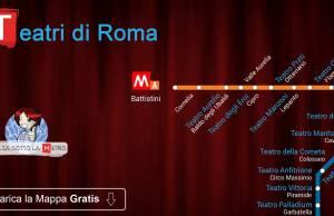 mappa dei teatri di roma